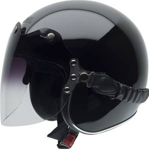 NZI - Casque Moto, Scooter Jet - ROLLING3 DUO - Noir Brillant