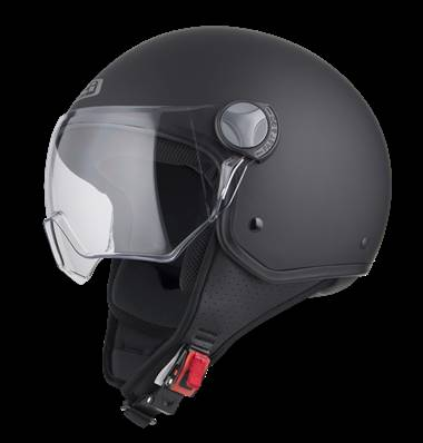 NZI - Casque Moto, Scooter Demi-Jet - CAPITAL VISION - Noir mat