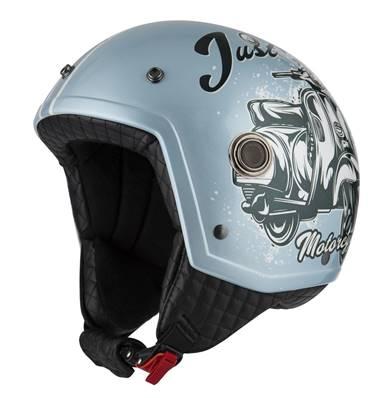 NZI - Casque Moto, Scooter Demi-Jet - TONUP - Blanc Mat