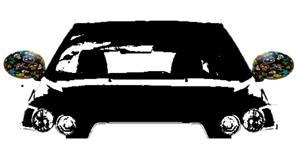 Housse rétroviseur voiture décorative tête de mort