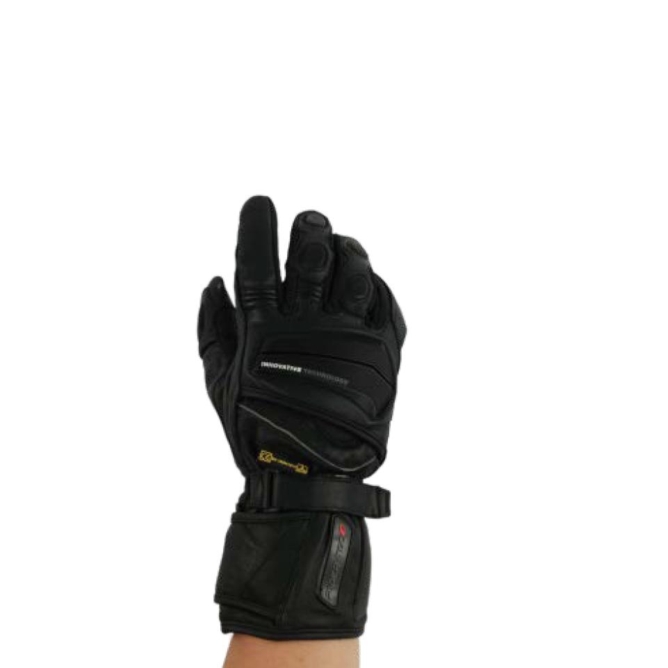 RIDER-TEC Gants Moto Cuir Homologu/é Taille S Noir