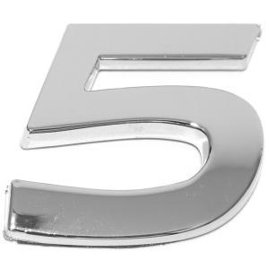 Chiffre ''5'' 3D autocollant chromé