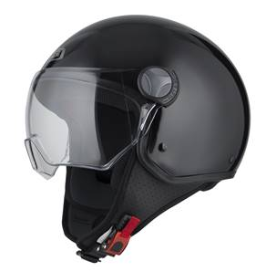 NZI - Casque Moto, Scooter Demi-Jet - CAPITAL VISION - Noir Brillant