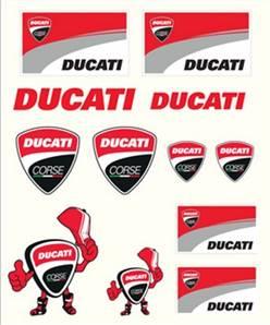 Stickers Ducati Medium Multicolore