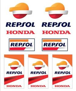 Stickers médium REPSOL HONDA
