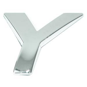 Lettre ''Y'' 3D autocollante chromée