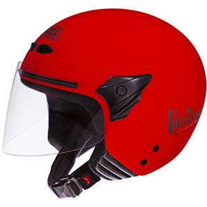 NZI - Casque Moto, Scooter Demi-Jet - HELIX II JR - Rouge brillant