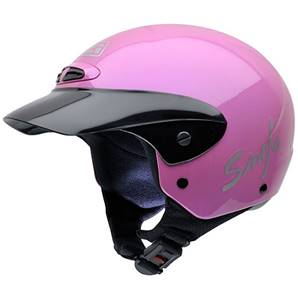 NZI - Casque Moto, Scooter Demi-Jet - SINGLE JR - Rose brillant