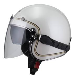 NZI - Casque Moto, Scooter Jet - ROLLING3 DUO GRAPHICS - Blanc brillant