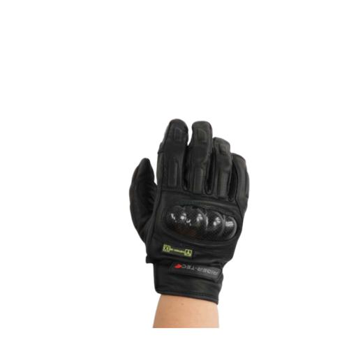 Gants de Moto Unisexe Race Rider-Tec Cuir Coqué Noir
