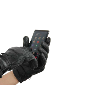 Gants de Moto Unisexe City Rider-Tec Cuir Noir