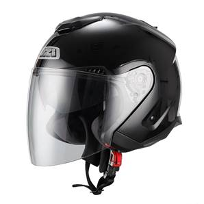 NZI - Casque Moto, Scooter Jet - AVENEW 2 DUO - Noir Brillant