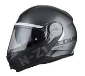 NZI - Casque Moto, Scooter Modulable - COMBI 2 DUO - Anthracite Brillant
