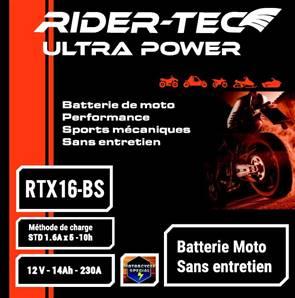 Batterie sans entretien 12V 16AH