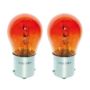 2 Ampoules 12V 21W BAU15S orange