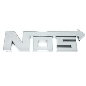 Logo 3D NOS autocollant chromé