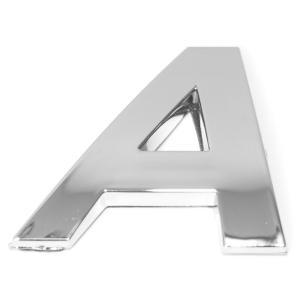 Lettre ''A'' 3D autocollante chromée