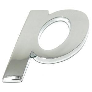 Lettre ''p'' 3D autocollante chromée