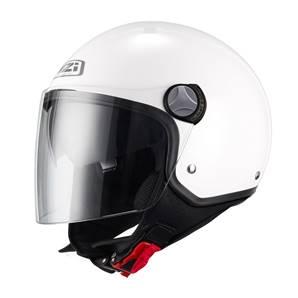 NZI - Casque Moto, Scooter Demi-Jet - CAPITAL2 DUO - Blanc Mat