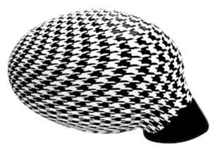 Housse rétroviseur voiture décorative pied de poule blanc