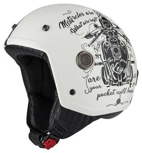 NZI - Casque Moto, Scooter Demi-Jet - TONUP - Bicolore Mat