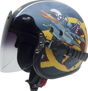 NZI - Casque Moto, Scooter Jet - ROLLING3 DUO GRAPHICS - Multicolore Mat
