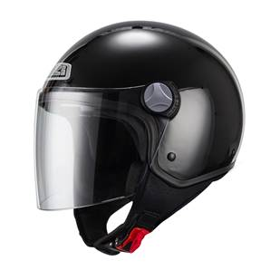 NZI - Casque Moto, Scooter Demi-Jet - CAPITAL2 DUO - Noir Brillant