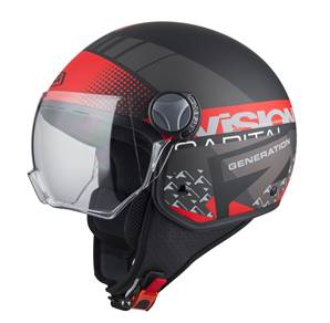 NZI - Casque Moto, Scooter Demi-Jet - CAPITAL VISION - Multicolore Mat