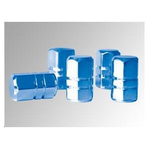 Bouchons de valve en aluminium bleu
