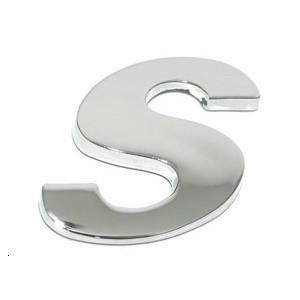 Lettre ''s'' 3D autocollante chromée