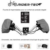 """Manchons de vélo """"Hand Muff"""" imperméables et chauds Bordeaux Rider-Tec"""