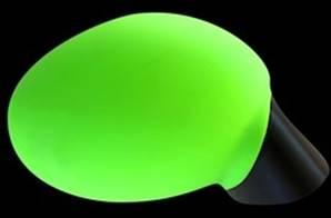 Housse rétroviseur voiture décorative verte fluo