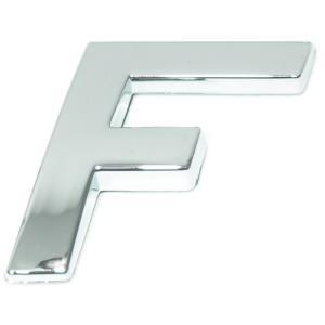Lettre ''F'' 3D autocollante chromée