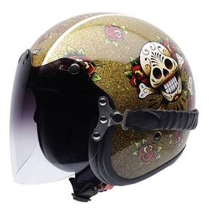 NZI - Casque Moto, Scooter Jet - ROLLING3 DUO GRAPHICS - Multicolore brillant