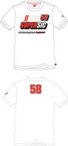 T-Shirt Supersic 58 Blanc