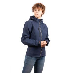 Blouson de Moto Femme Urban Girly Rider-Tec Softshell Bleu Jean