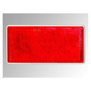 Réflecteur rouge rectangle à coller