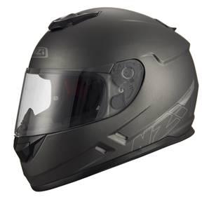 NZI - Casque Moto, Scooter Intégral - FUSION - Anthracite Mat