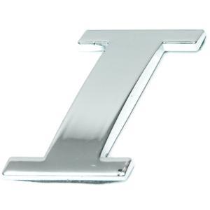 Lettre ''I'' 3D autocollante chromée