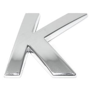 Lettre ''K'' 3D autocollante chromée