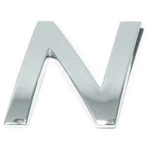 Lettre ''N'' 3D autocollante chromée
