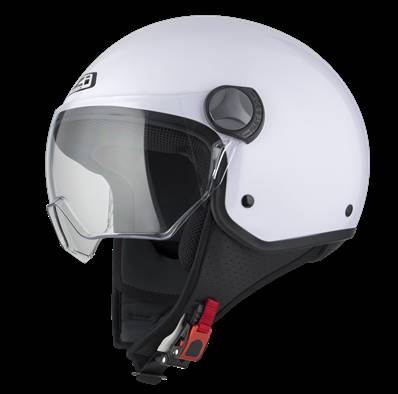 NZI - Casque Moto, Scooter Demi-Jet - CAPITAL VISION - Blanc brillant