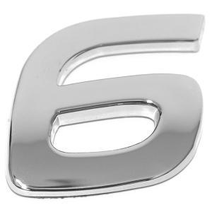 Chiffre ''6'' 3D autocollant chromé