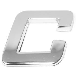 Lettre ''C'' 3D autocollante chromée