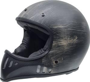NZI - Casque Moto, Scooter intégral - MAD CARBON - Noir mat