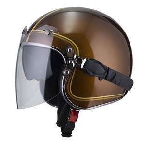 NZI - Casque Moto, Scooter Jet - ROLLING3 DUO GRAPHICS - Marron brillant
