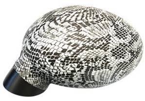 Housse rétroviseur voiture décorative serpent noir