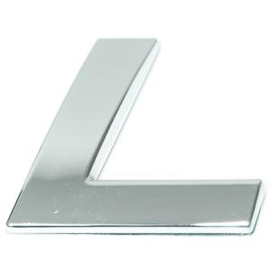 Lettre ''L'' 3D autocollante chromée