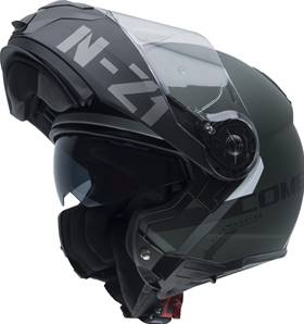 NZI - Casque Moto, Scooter Modulable - COMBI2 DUO GRAPH - Vert mat