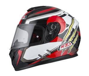 NZI - Casque Moto, Scooter Intégral - FUSION - Multicolore brillant